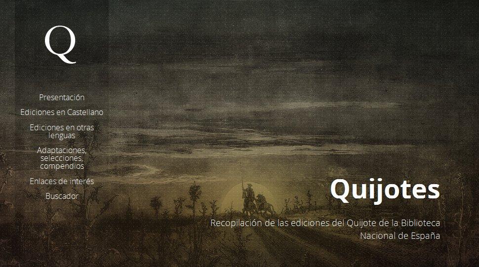 En nuestro portal Quijotes podéis descub...