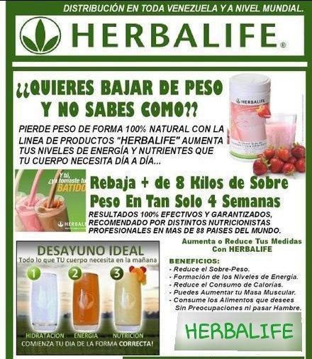 como perder peso con herbalife