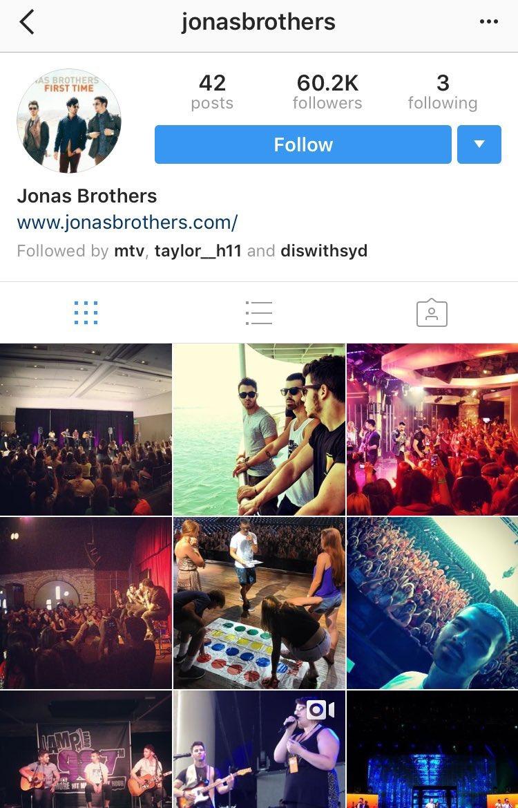 EITA! Conta do Instagram dos Jonas Brothers é reativada e fãs especulam novo projeto