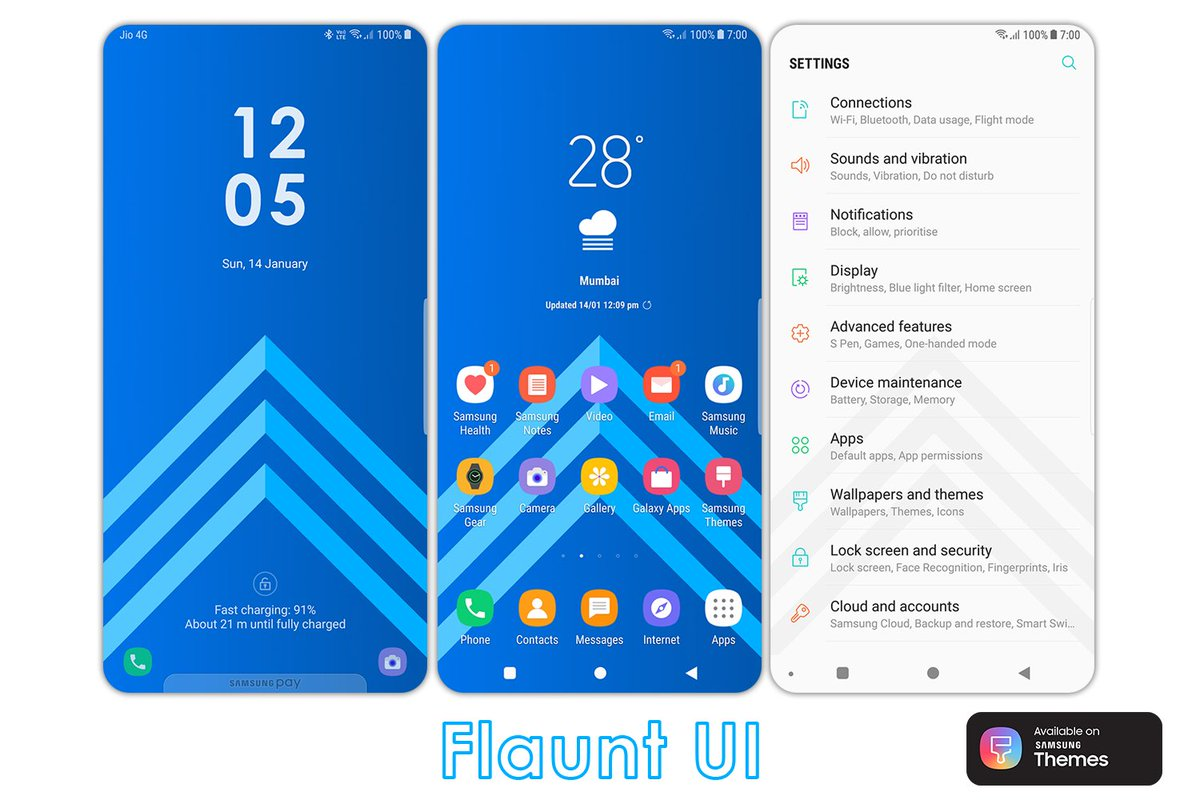 Anup Rode On Twitter Check Out Flaunt Ui My New Theme Iconpack Wallpaper Aod For Samsung Galaxy Series Theme Https T Co Jm40g999gh Iconpack Https T Co 0t29kr8psj Wallpaper Https T Co N083aankv2 Aod Https T Co Ntotbur2ej Samsung