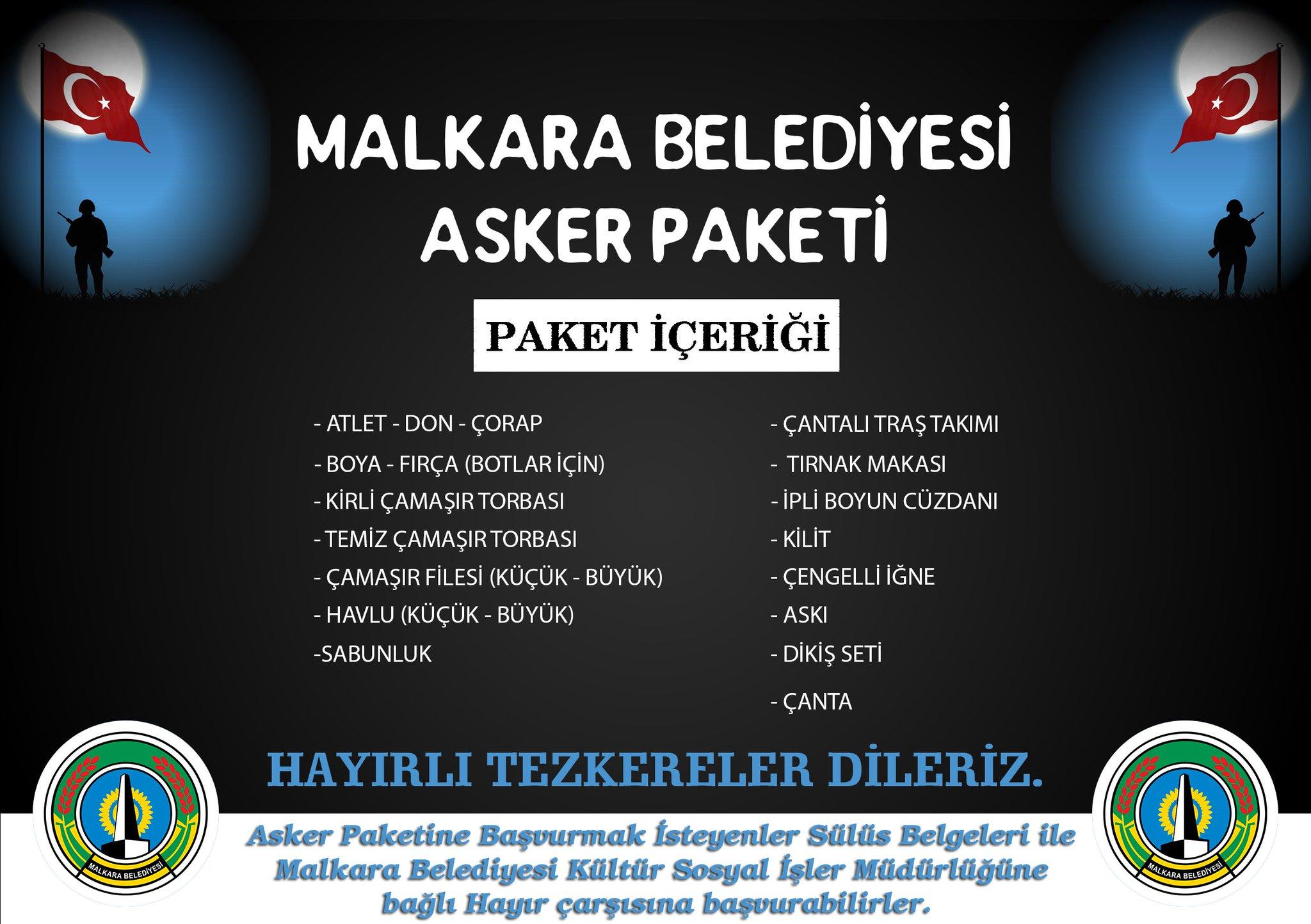 Malkara Belediyesi On Twitter Askerpaketi