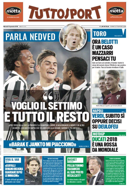 I giornali sportivi di oggi #16gennaio