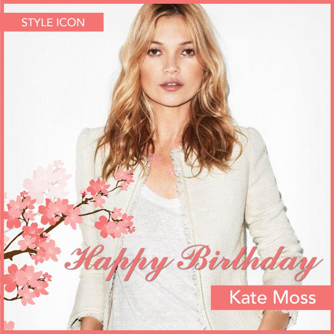 Happy birthday to this beautiful style icon, Kate Moss!