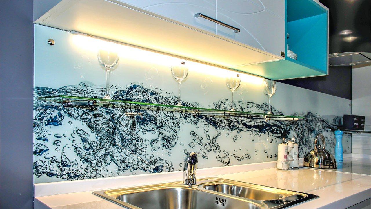 магазине картинки кухни со стеклянной стеновой панелью может