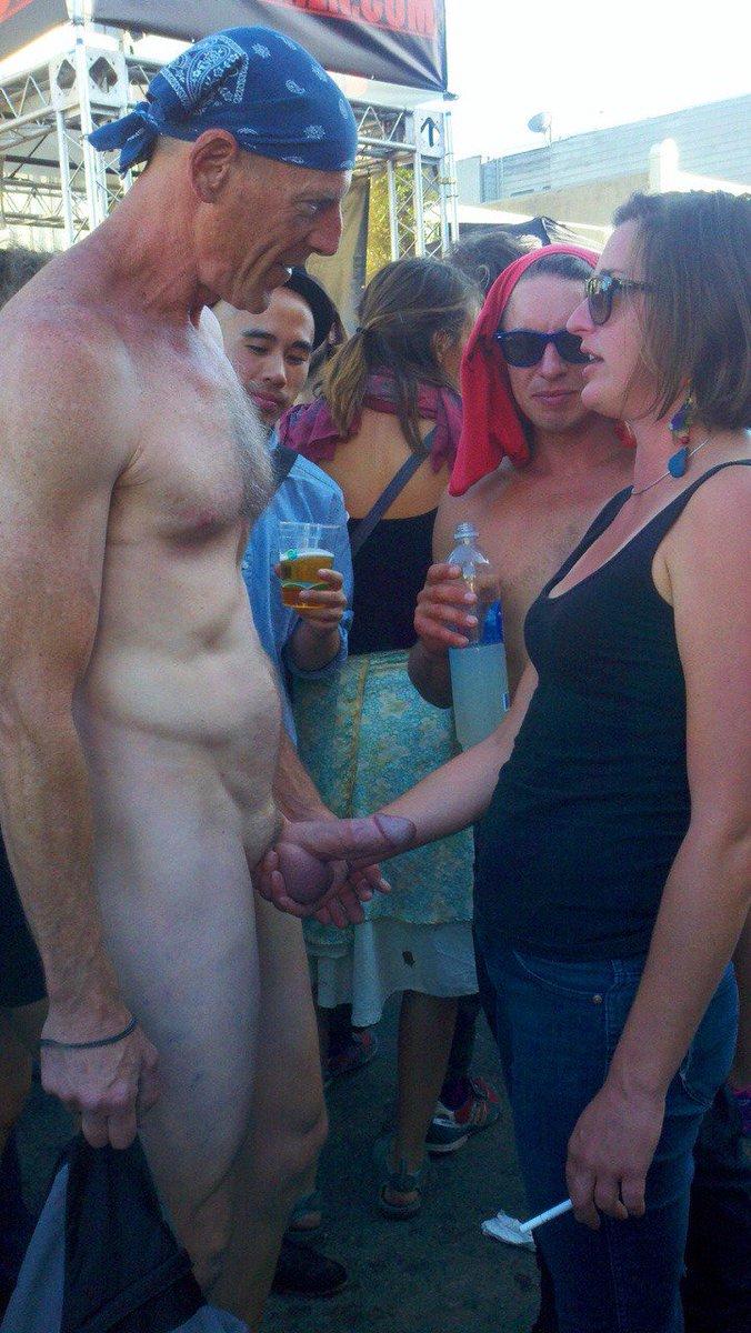 Wearing cum in public