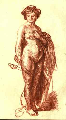 RT @artistrembrandt: Female Nude with Snake (Cleopatra) #arthistory #baroque https://t.co/0MkXRllP0A