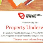 We are currently #recruiting for an experienced #Property Owners #Underwriter to join our team. For a full #job description & to #apply online, click here: https://t.co/SR2crMc7CM