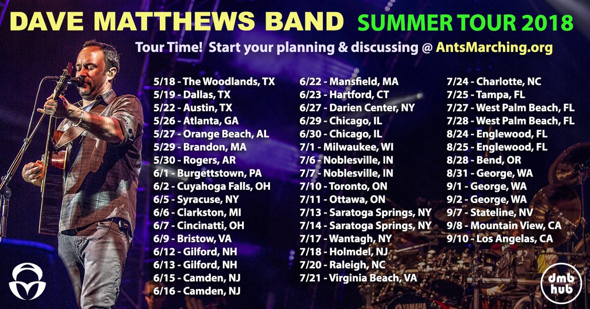 Dmb tour dates in Melbourne