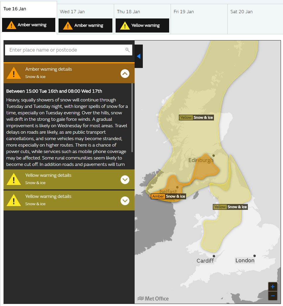 Met Office's photo on Amber