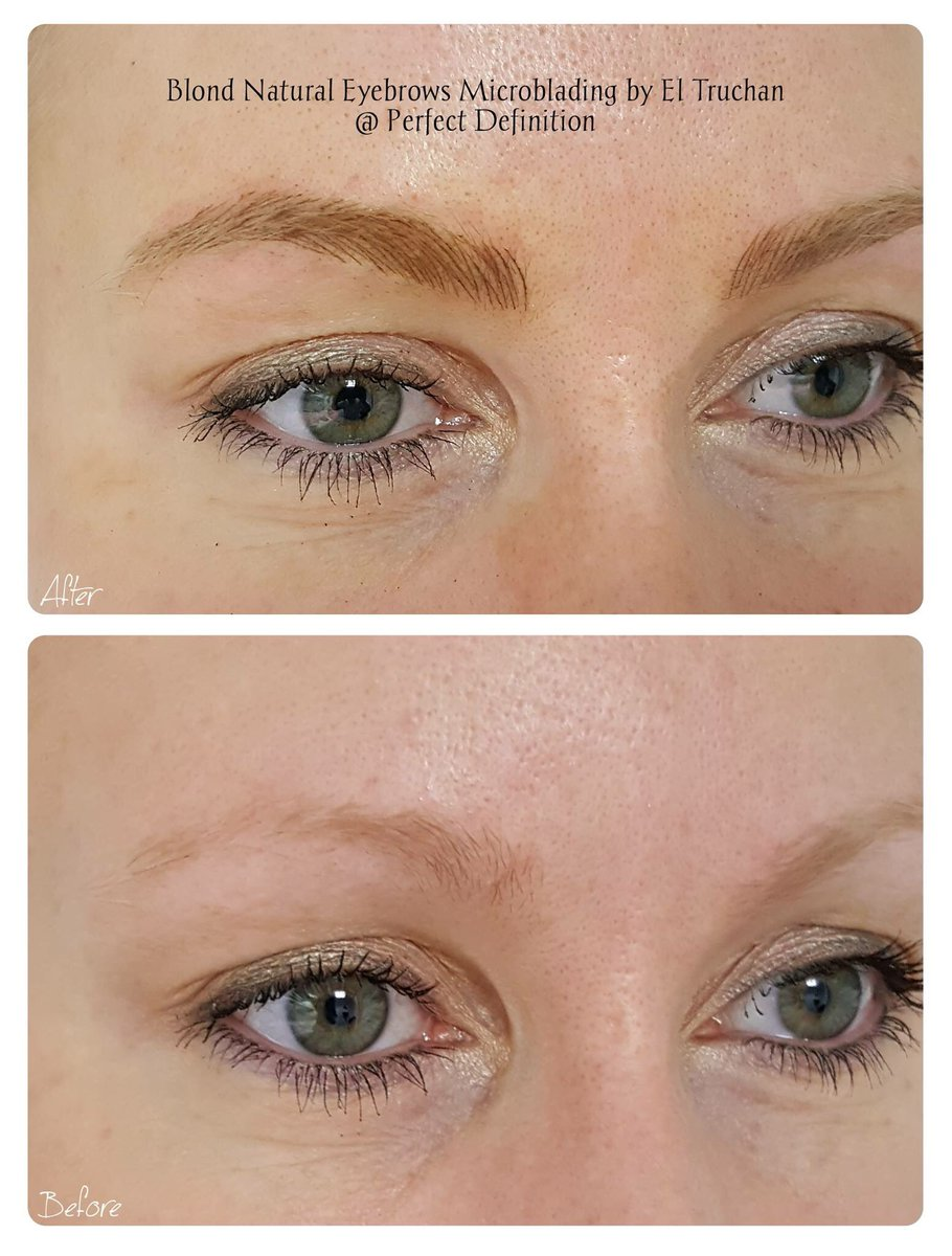 Perfect Definition On Twitter Eyebrows For Blondes Microblading