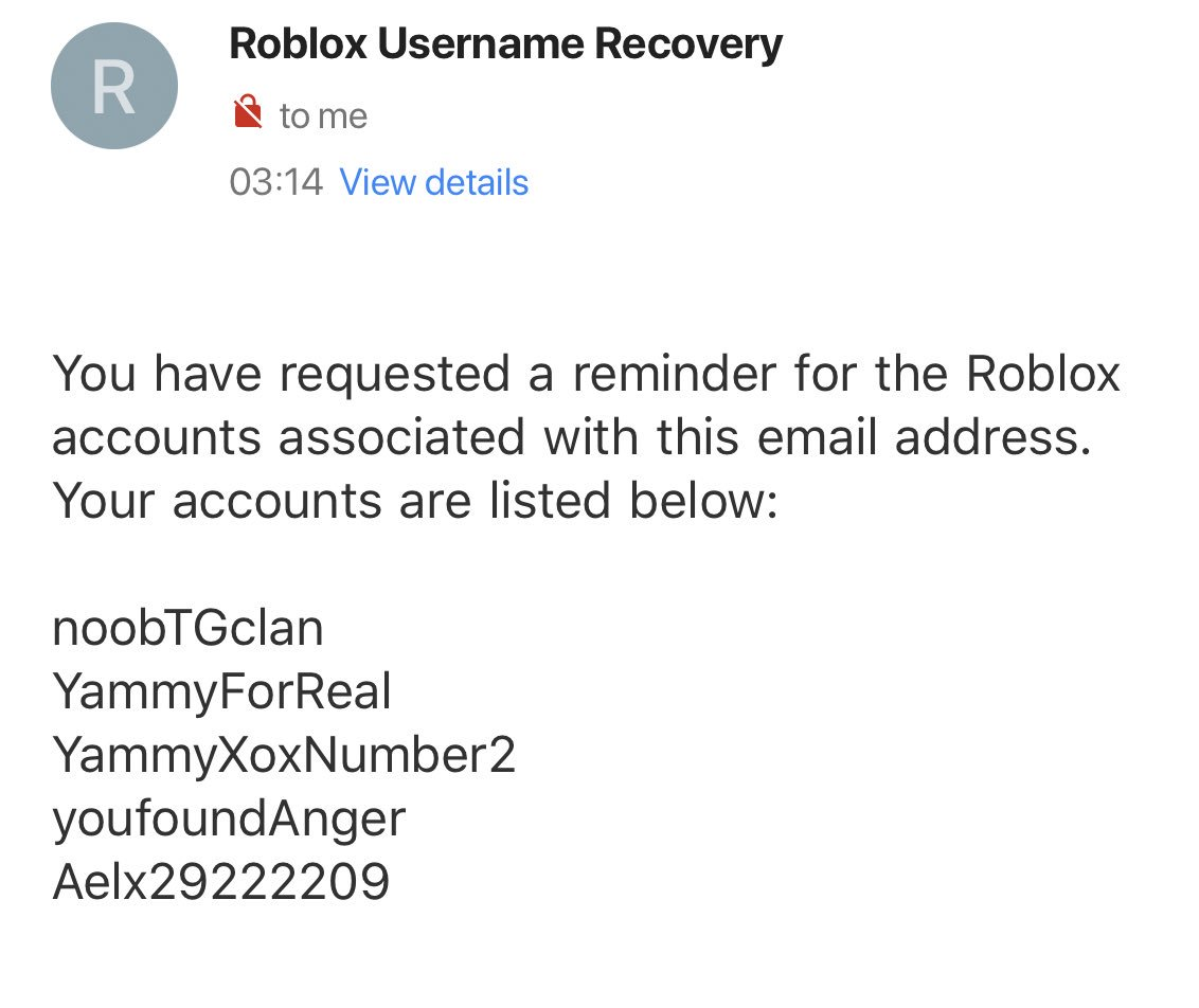 Yammy On Twitter Kids Keep Setting Their Roblox Accounts To My Emails And Then Forgetting Their Usernames And Passwords