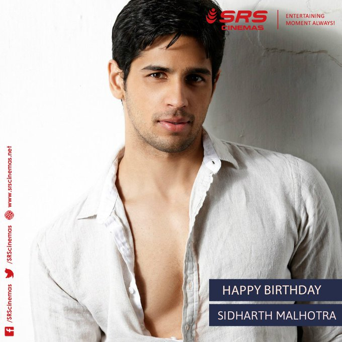 Wishing Sidharth Malhotra a very happy birthday!