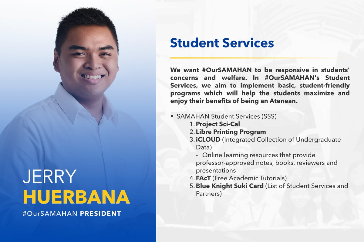 Here are the plans of #OurSAMAHAN Presid...