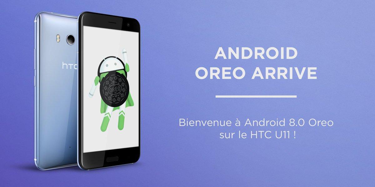 Nous avons commencé à déployer Android Oreo sur le HTC U11 en France. Ne vous inquiétez pas si vous ne l'avez pas encore reçu, cela va arriver au fur et à mesure. Encore une fois, merci pour votre patience 🙏 https://t.co/OJV6AEDwVA