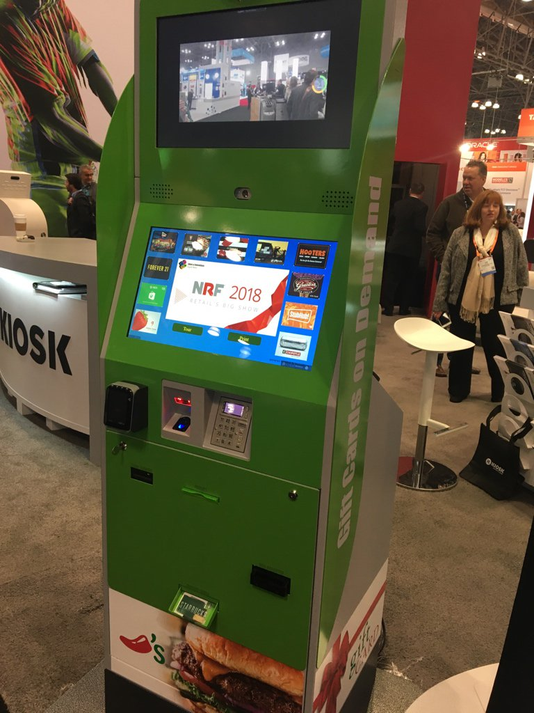 Christie Rice On Twitter New Capability From Kiosk Info Systems Gift Card Printing Love This Nrf2018 Intelretail