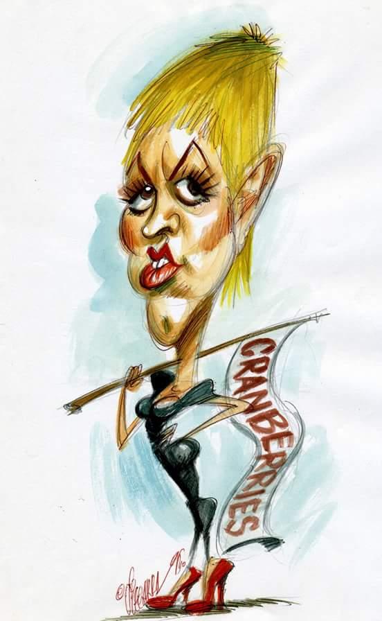Caricatura de Dolores O'Riordan (dibujad...