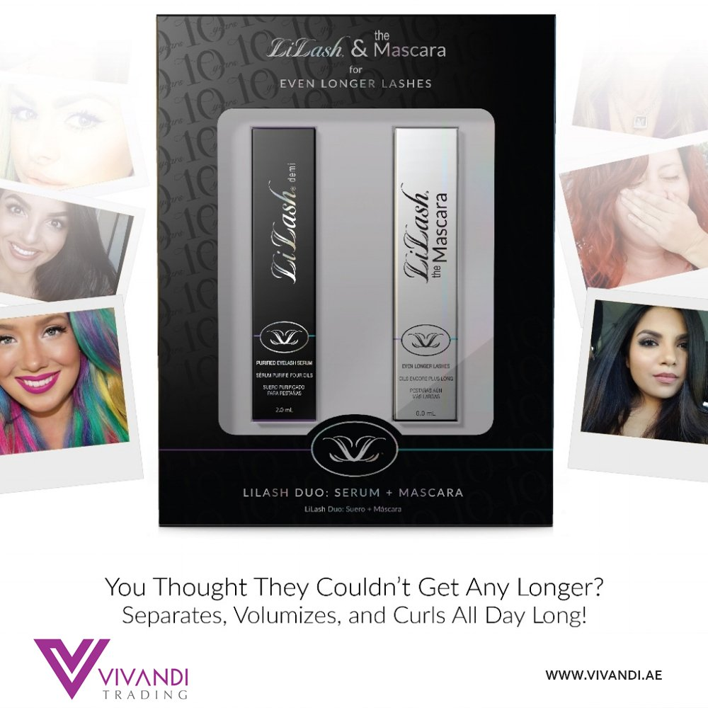 6b36d3b635e #Lilash & Mascara Duo Demi was created to redefine how long, lush lashes  can power a woman's look. Experience the magic for yourself! #VivandiTrading  ...