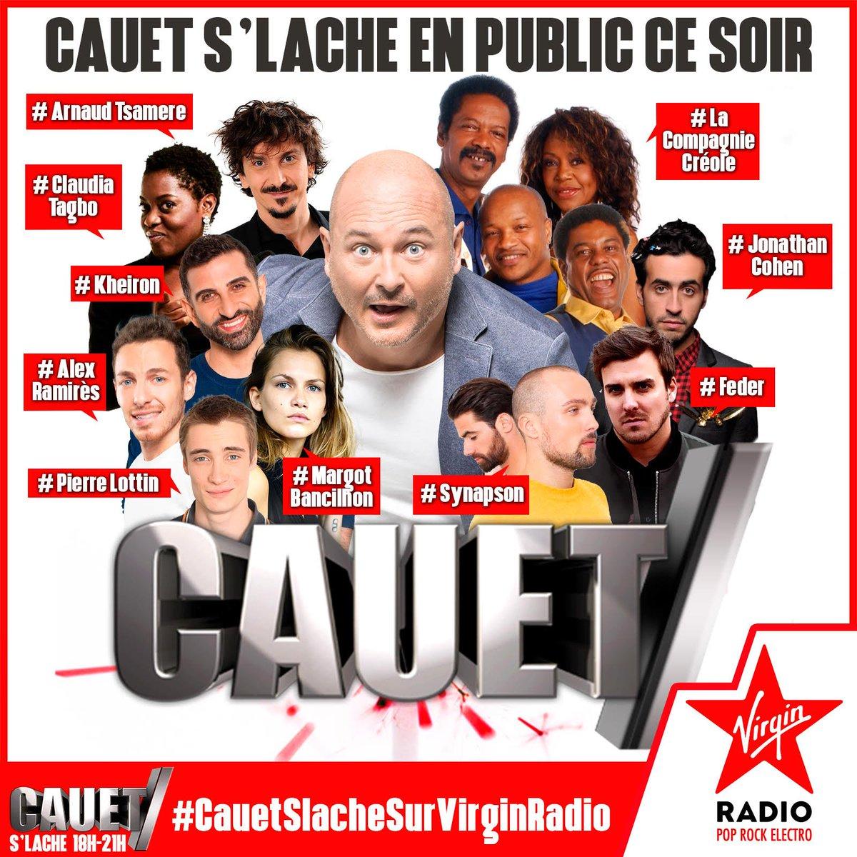 RDV à 18h sur ma page pour 3h d'émission en live sur @VirginRadiofr et sur #Facebook ! #CauetSlacheEnPublic ⬇️