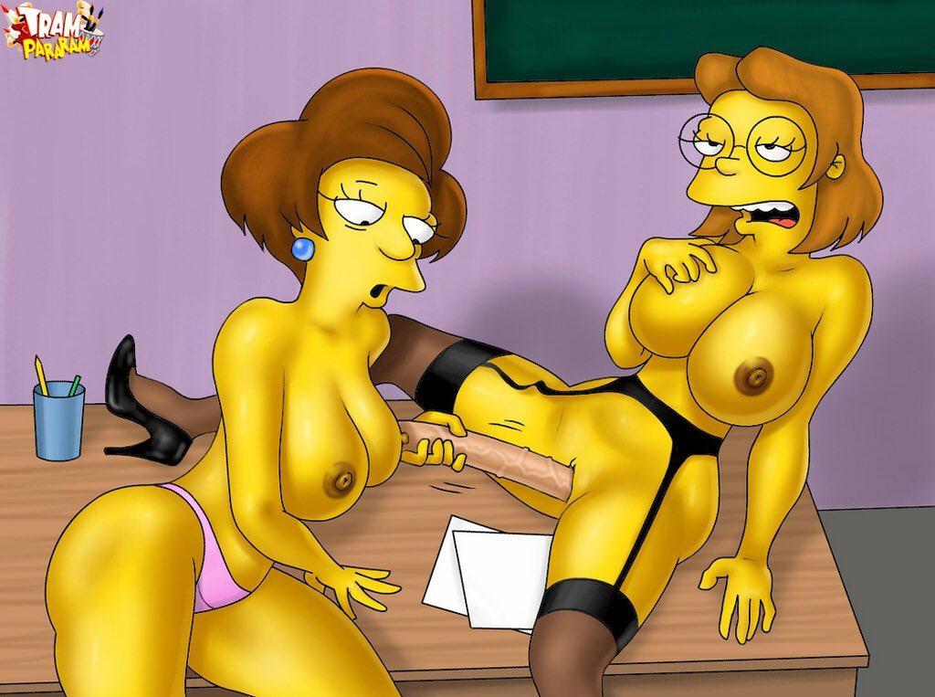 The Simpsons Miss Hoover Porn Hoover Porn Simpsons Miss Krabappel And Bart Jpg