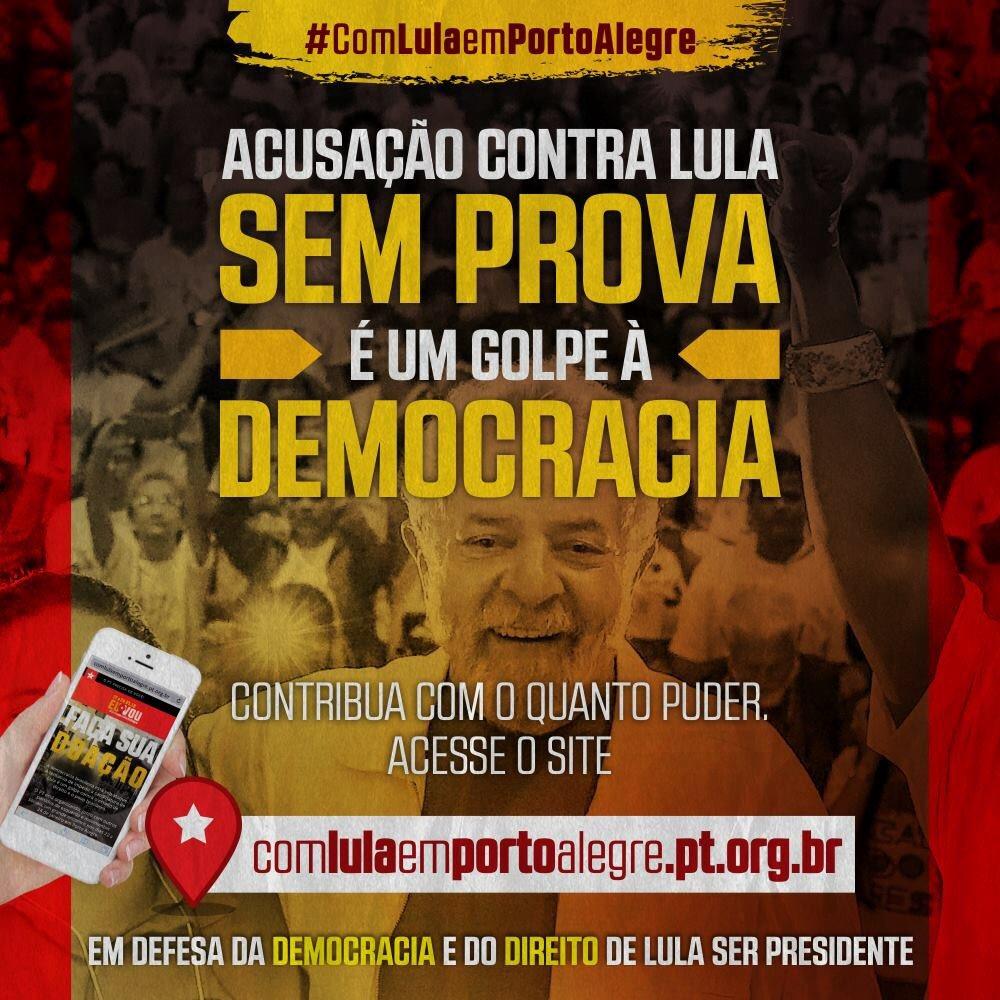 Colabore para que mais pessoas possam ir no dia 24 para Porto Alegre. Doe o quanto puder e vamos mostrar que temos força em prol da democracia 👉 https://t.co/Csmr1OTkSV