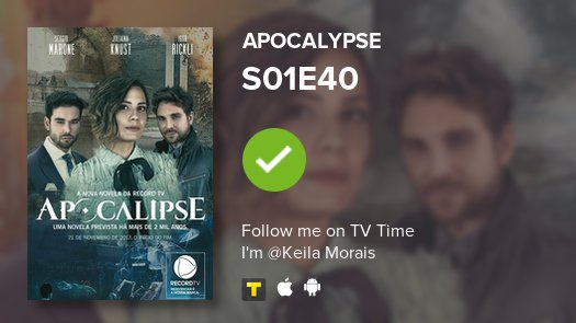 I've just watched episode S01E40 of Apocalypse! #apocalipse  #tvtime https://t.co/jYFegLiJZR https://t.co/vcGxDHewy7