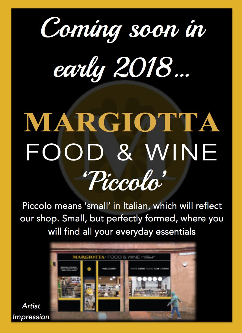 Margiotta Food Wine On Twitter Exciting News Coming To Mayfield Road In Around March Time Margiotta Piccolo A Smaller Margiotta Than Our Other Shops But Perfectly Formed With All Your Everyday Essentials Stay
