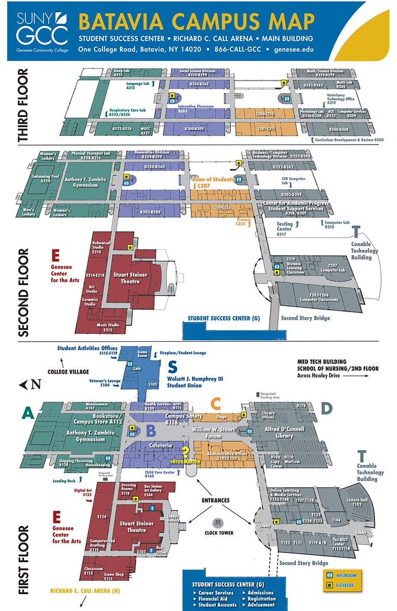 suny orange campus map Suny Gcc On Twitter Batavia Campus Map Pdf Version Https T suny orange campus map