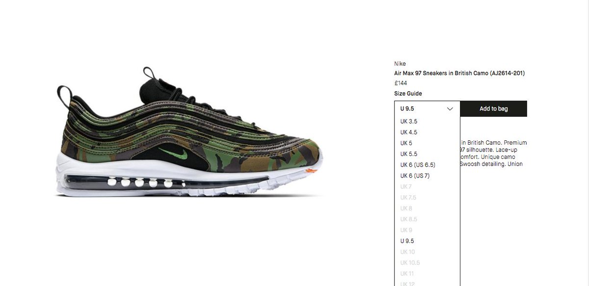 The Sole Restocks on Twitter: Nike Air Max 97 Country Camo