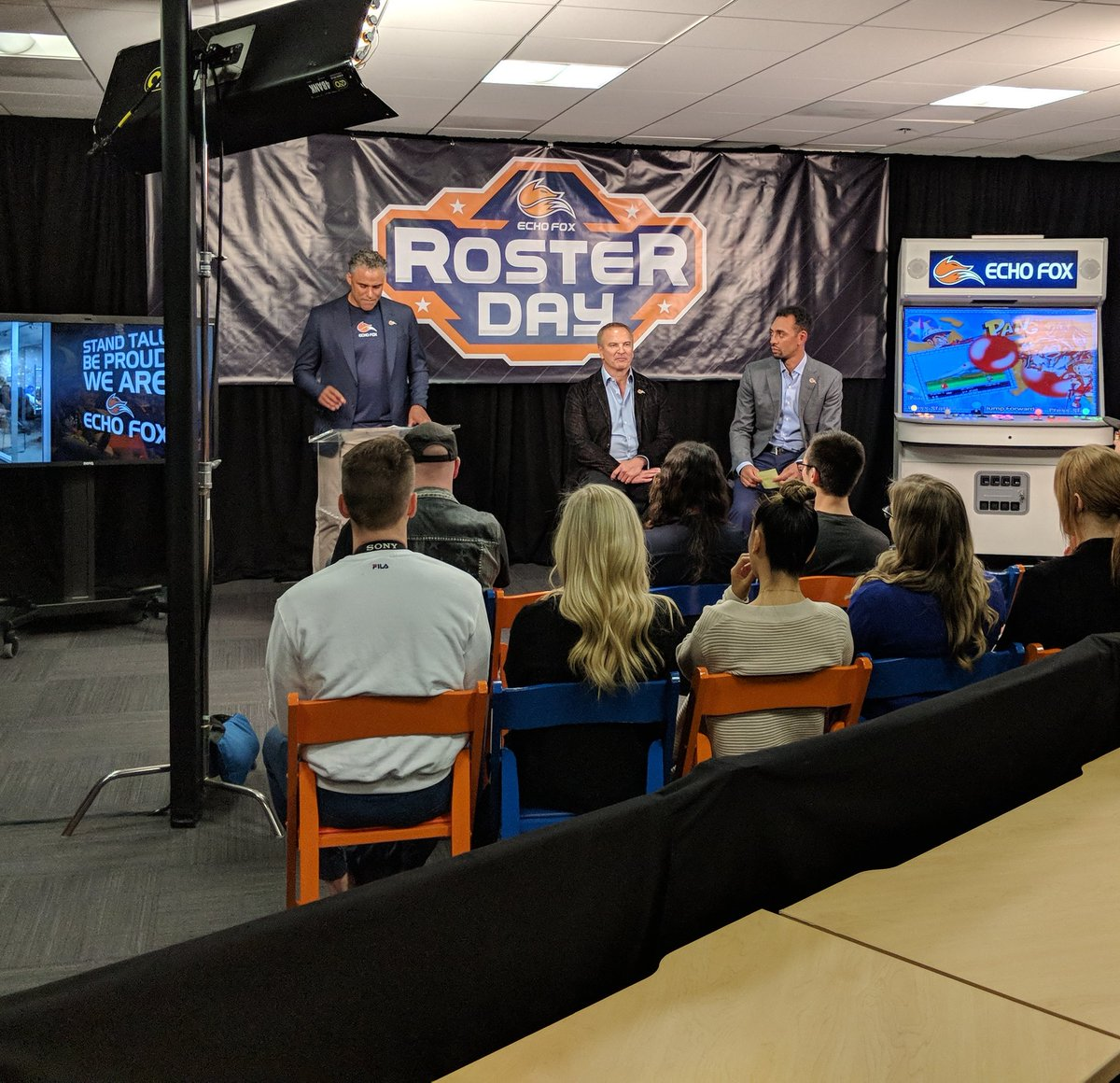 At @echofoxgg roster day. @RickFox givin...