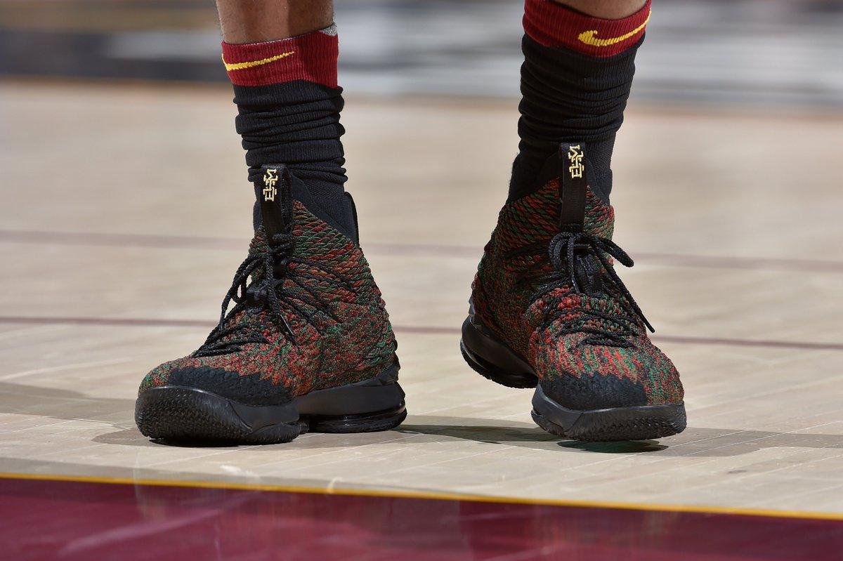 low priced f1025 6539b LeBron James in the Nike LeBron 15