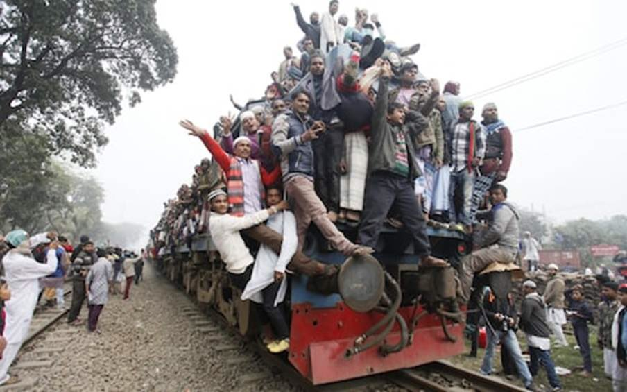 """""""Overcrowded train"""" takes on a whole new..."""