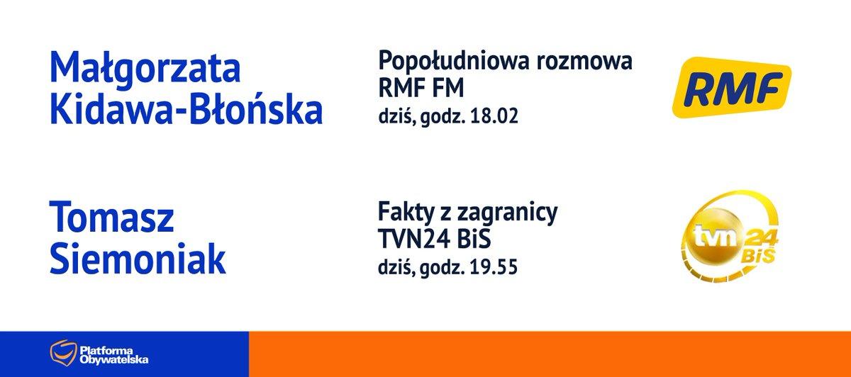 RT @NewsPlatforma: #POwMediach (16 stycznia) @M_K_Blonska @TomaszSiemoniak https://t.co/fa7NknOfcl