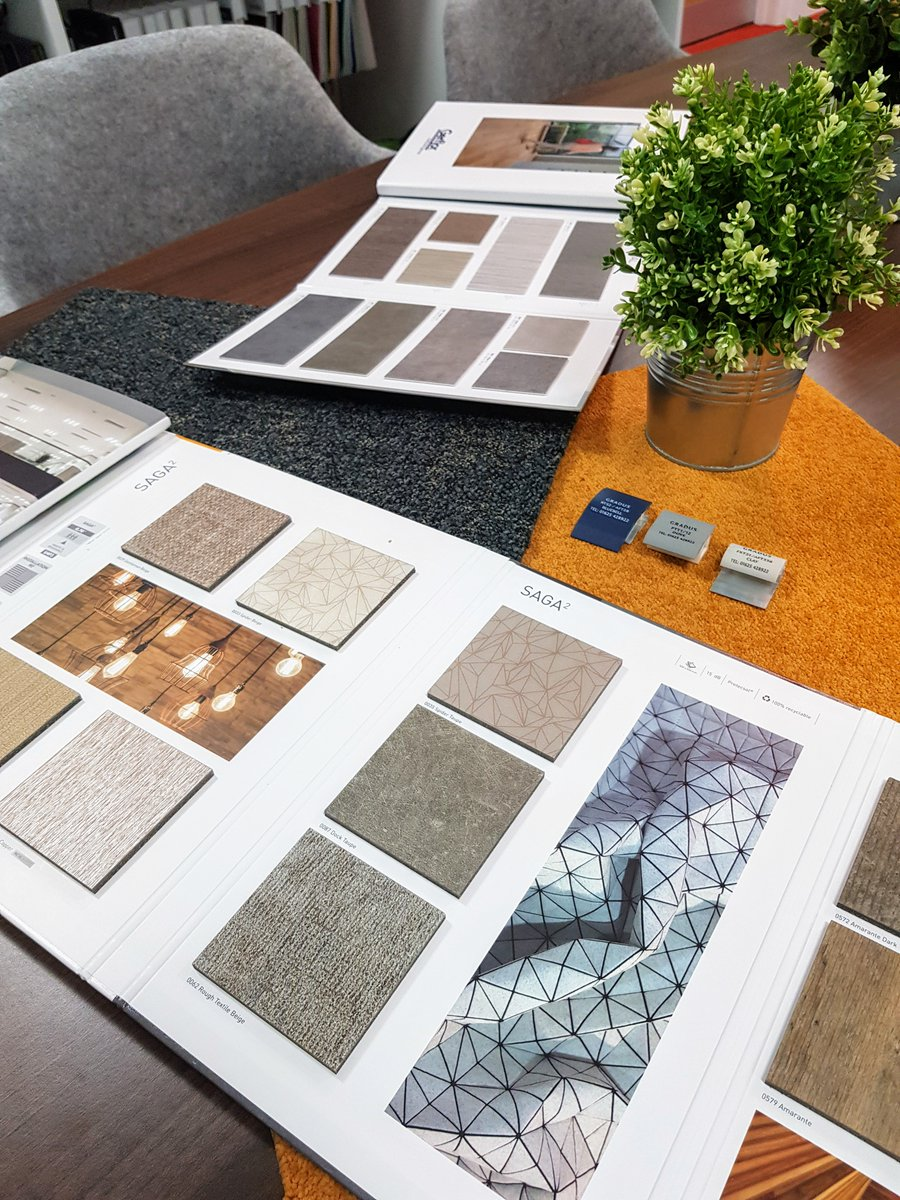 Thank you to @TonyGerflorUK for bringing in a taster of your new @GerflorUK ranges, now to decide which one to use