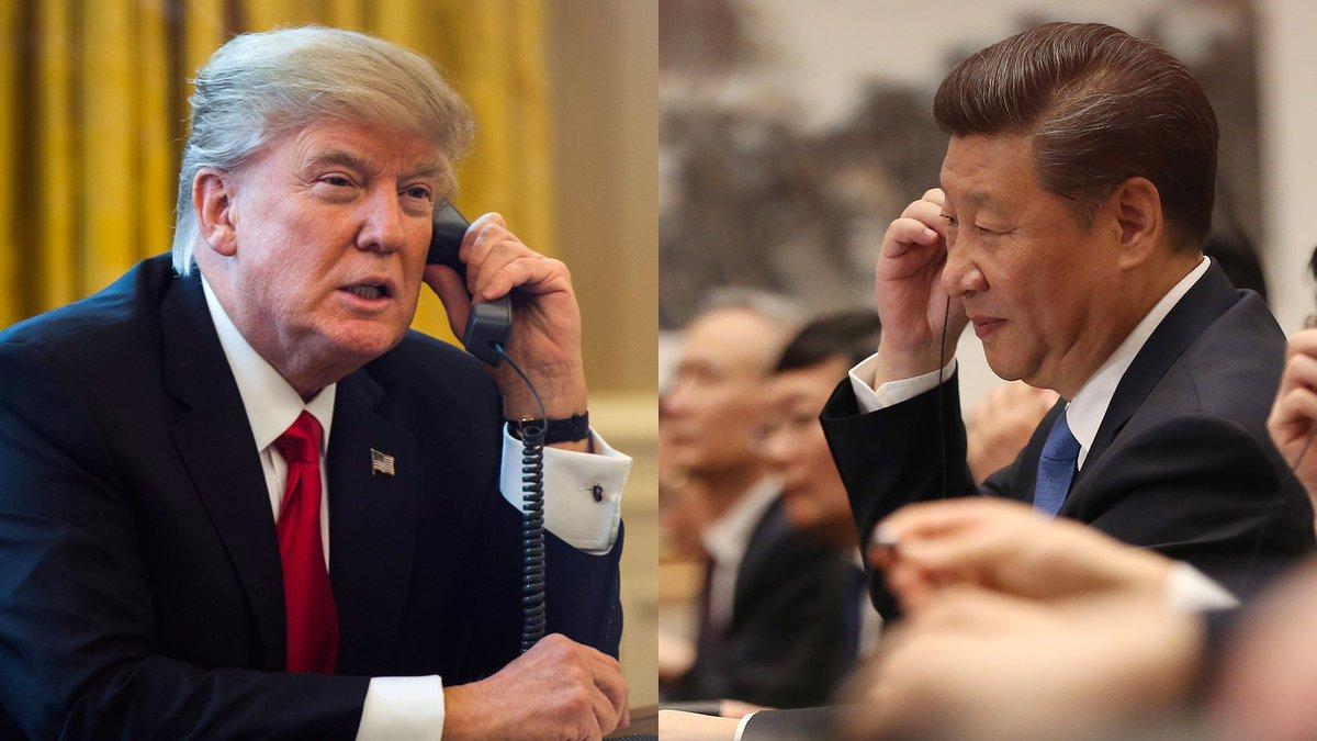 🔴 INFO - #USA: Les dirigeants américains et chinois ont eu une conversation téléphonique sur la question nord-coréenne. #Trump a demandé à Xi Jinping de continuer à appliquer une 'pression maximale' sur la Corée du Nord.' #XiJinping #CoreeDuNord