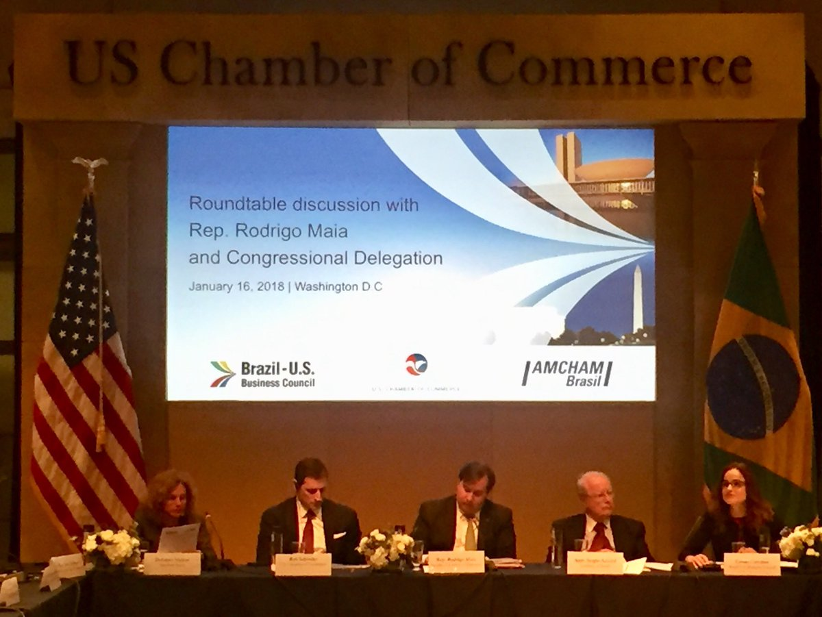 test Twitter Media - @DepRodrigoMaia addresses questions from U.S. investors on their priorities and what the business community can expect for the last year of the current Administration. @amchambr @BrazilinUSA @camaradeputados https://t.co/ymY4tfxoVU
