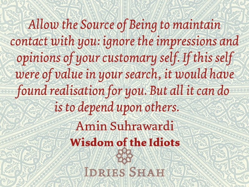 Idries Shah on Twitter: