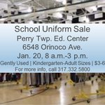 On Saturday, January 20 from 8 a.m-3 p.m., the Education Center will host a school uniform sale. Cash, checks, and credit/debit cards will be accepted.