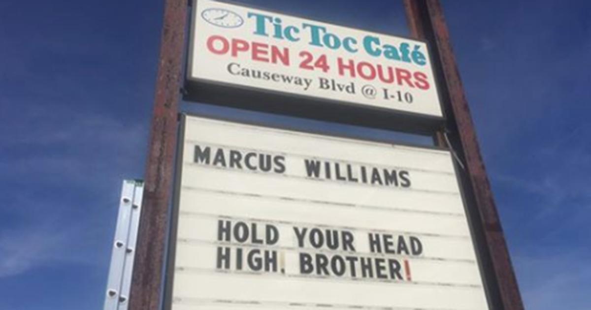 .@Saints fans have Marcus Williams' back...
