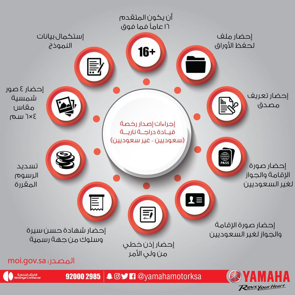 Yamaha Motor Ksa בטוויטר إجراءات إصدار رخصة قيادة دراجة نارية سعوديين غير سعوديين ياماها السعودية إصدار رخصة دراجات نارية