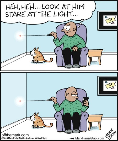 Too real. 🙀 https://t.co/4Ey0M0Aowe via @OffTheMarkComic #TuesdayThoughts #cats #comics