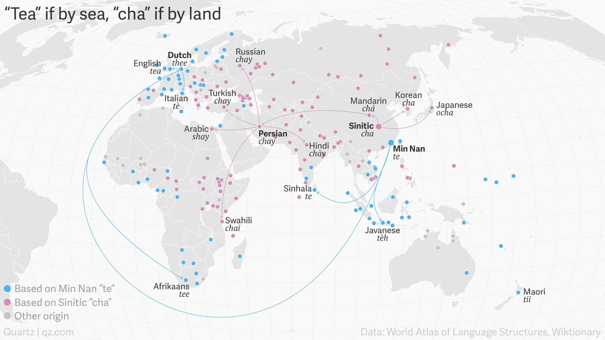 Simon kuestenmacher on twitter people refer to the leafy drink as awesome map and nice little article on the history and geography of language source httpsbuff2dagt7r picitterqfihldmblk gumiabroncs Images