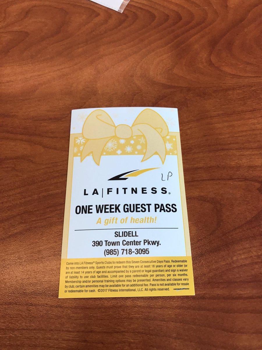 la fitness free 2 week pass