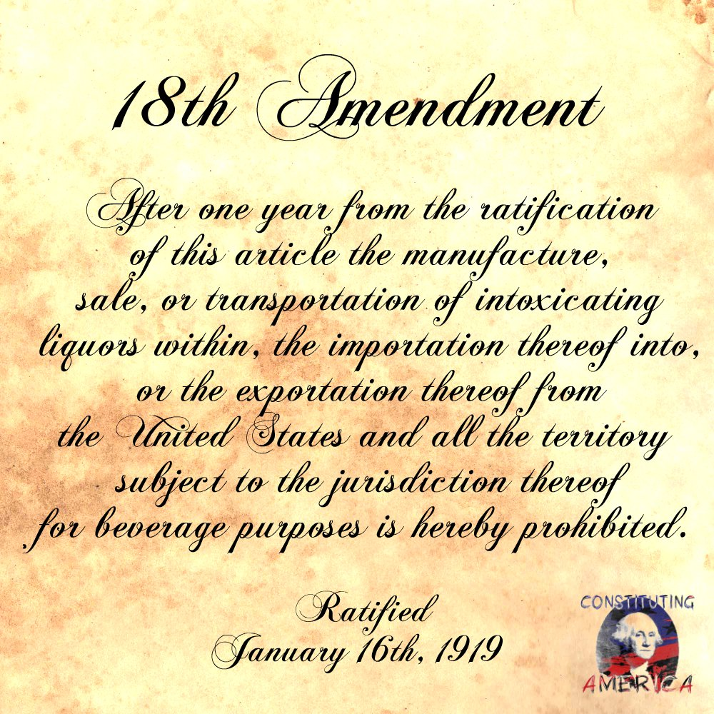 18th amendment text