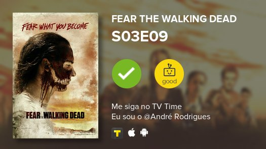 I've just watched episode S03E09 of Fear...