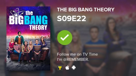 I've just watched episode S09E22 of The...