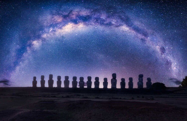 Milky Way over Easter Island, Chile | Ph...