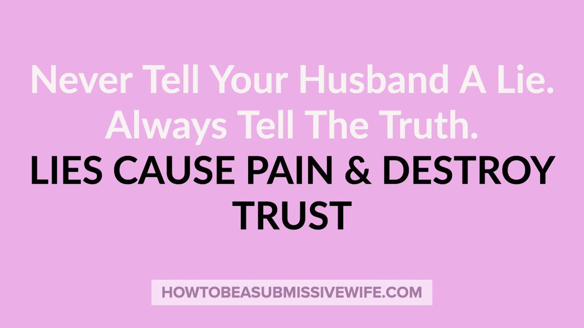 Husband lies when your what to do 8 Common