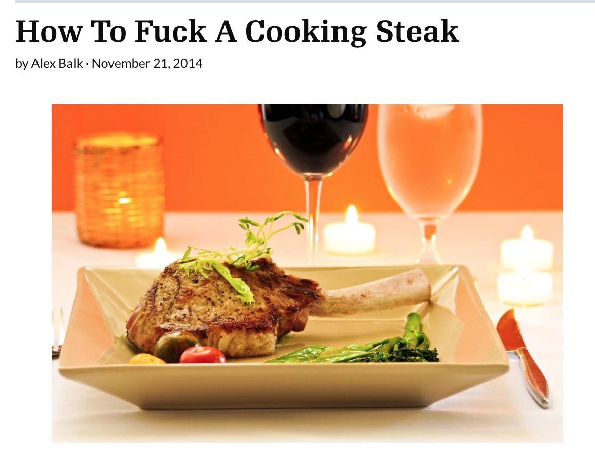 how to cook a fucking steak