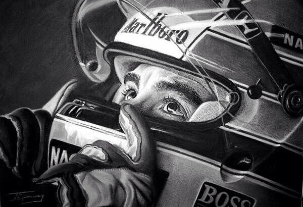 Beautiful charcoal drawing of Ayrton by...