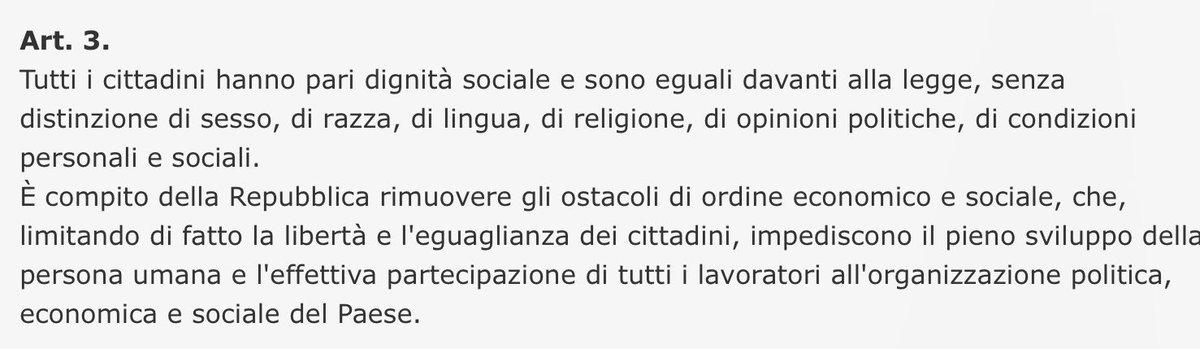 Si, anche la Costituzione italiana parla...